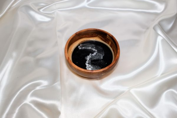 Schmuckschale Schwarz- Silber
