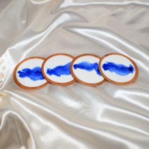Untersetzer Blau- Weiss