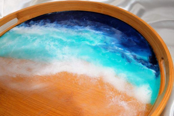 Serviertablett Blue Ocean