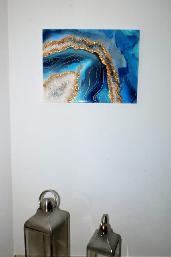 Bild Blau Gold